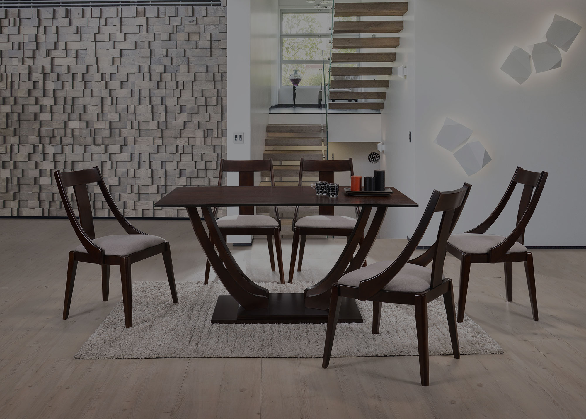 Malaysia Furniture Dining Solid Wood Chair Solid Wood Table