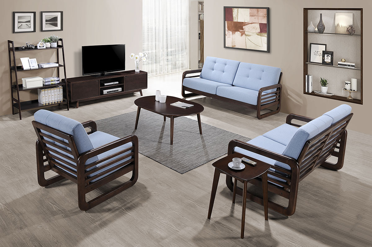 206 Sofa Set (1+2+3) with TV Unit & Occasional Set - Living Room - Collection - Ker Global Furniture (M) Sdn Bhd