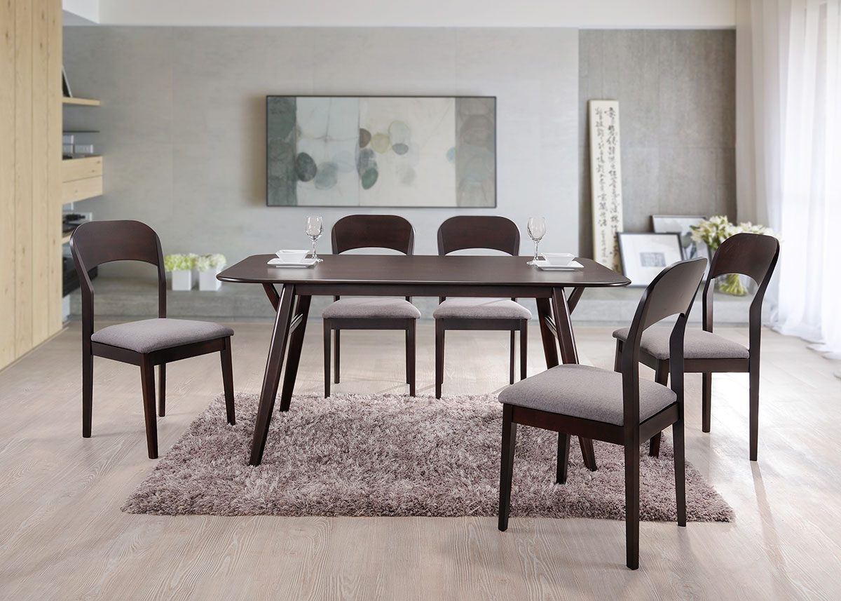 5203 Hannah Dining Set(1+6) - Dining Room - Collection - Ker Global Furniture (M) Sdn Bhd