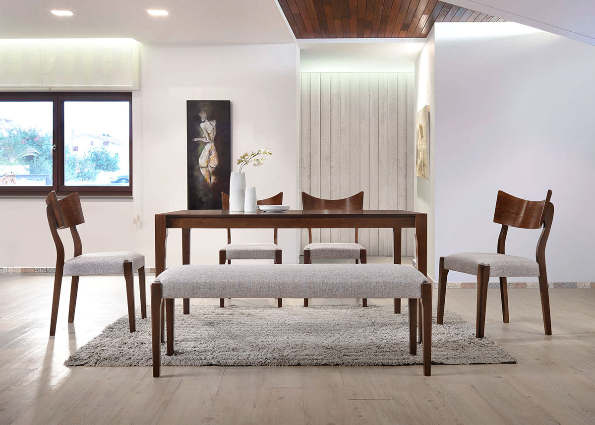 5277 Leona Dining Set(1+1+4) - Dining Room - Collection - Ker Global Furniture (M) Sdn Bhd