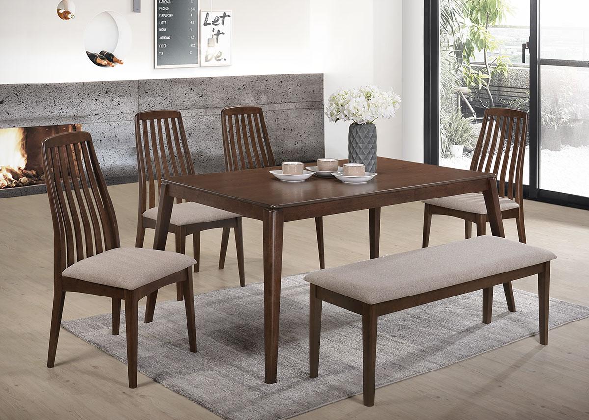 5285 Nashville Dining Set(1+1+4) - Dining Room - Collection - Ker Global Furniture (M) Sdn Bhd