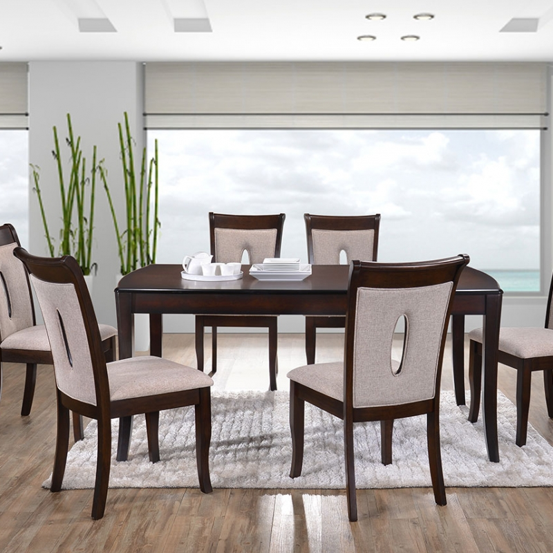 8030 Isabel Dining Set(1+6) - Dining Room - Collection - Ker Global Furniture (M) Sdn Bhd