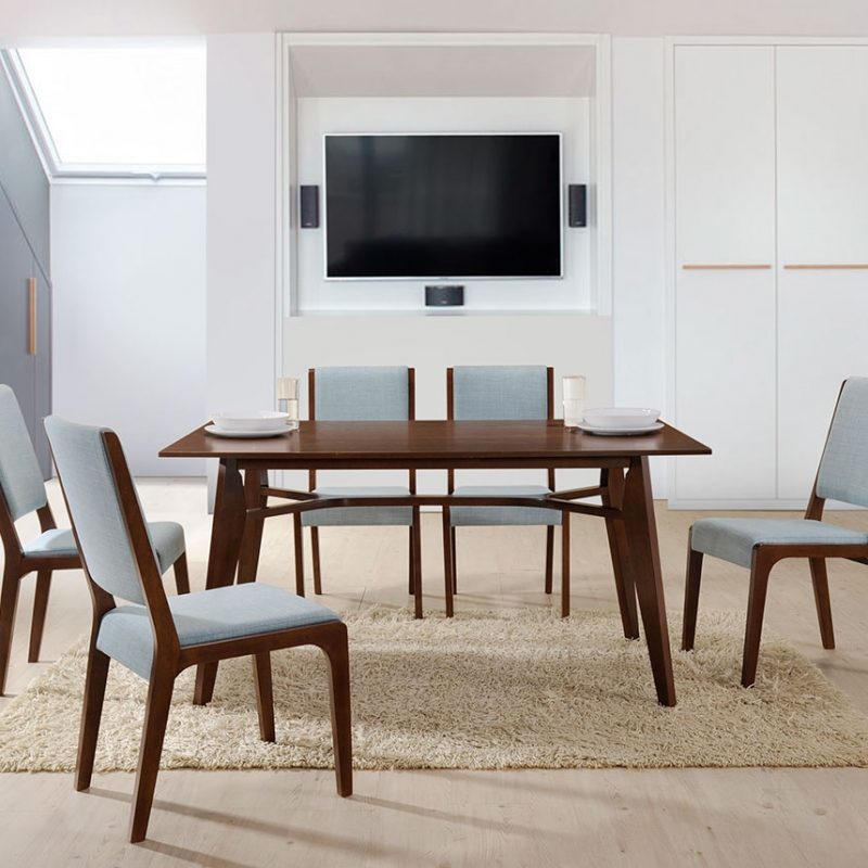 8302 Phyllis Dining Set(1+6) - Dining Room - Collection - Ker Global Furniture (M) Sdn Bhd